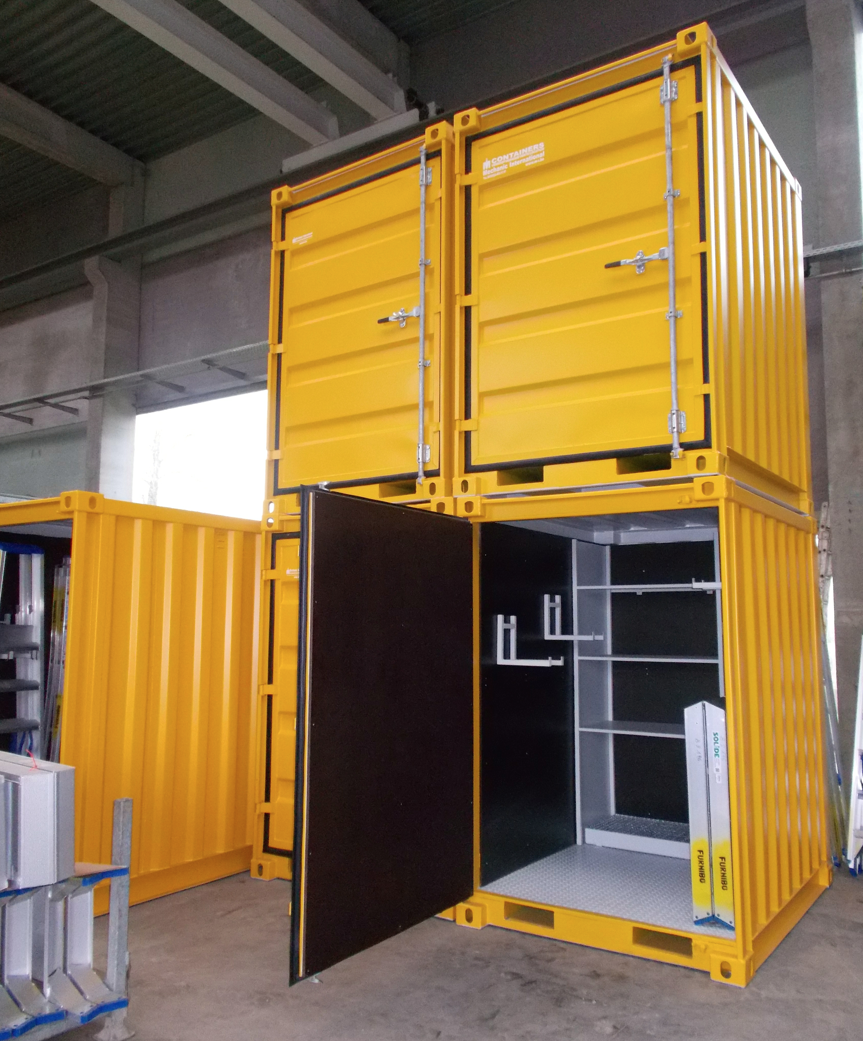 kleine ingerichte containers onze referenties mechanic international. Black Bedroom Furniture Sets. Home Design Ideas