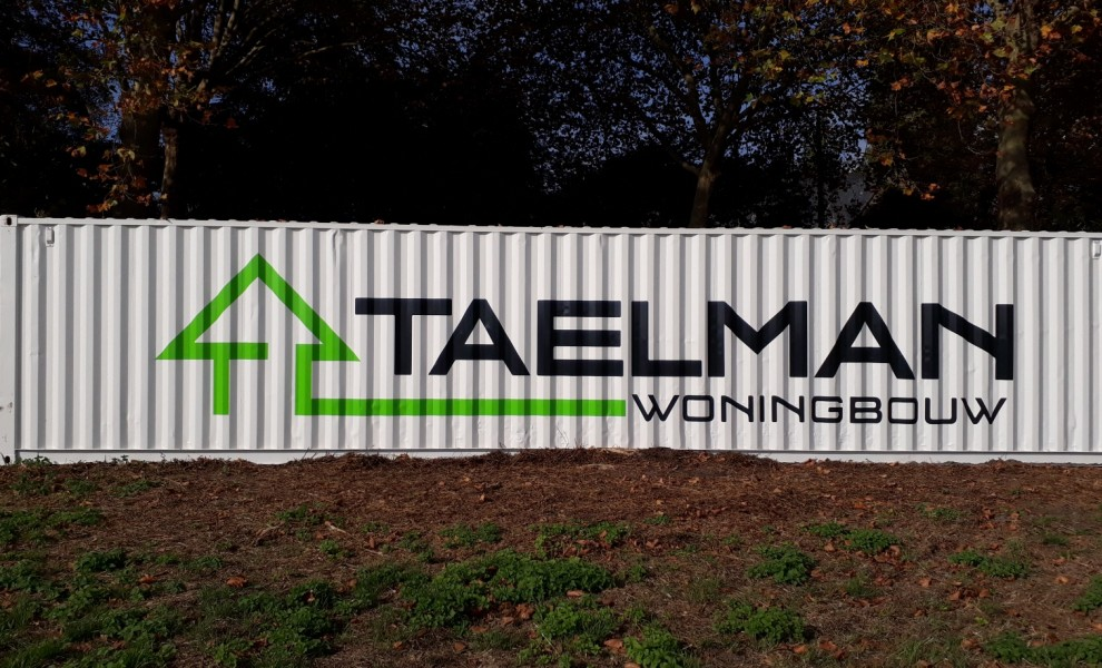 Used 40ft shipping container with logo (1)