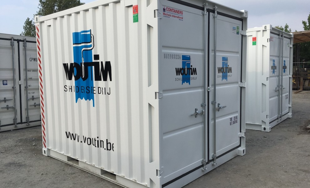 10ft storage containers with logo