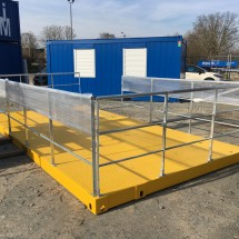 20ft platform container with foldable railing