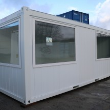 Office container with large windows