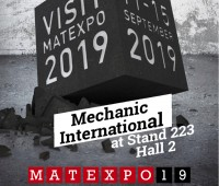Visit us at MATEXPO 19 at stand 223, hall 2