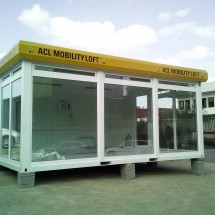Coupled 20ft showroom containers