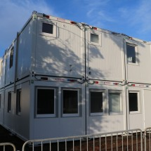 Modular container building