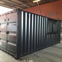 20ft black garden shed container