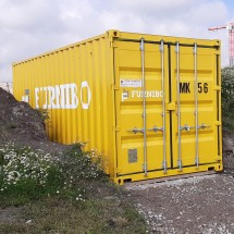Shipping container in company color