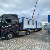 Transport of two 20ft office containers