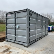 20ft open side environmental container in grey