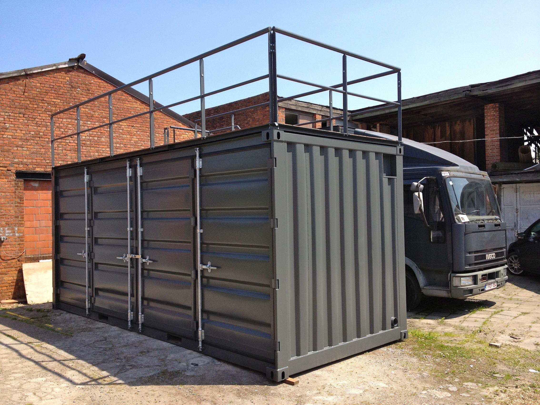 Conteneur avec terrasse r f rences mechanic international for Agrandissement maison avec container
